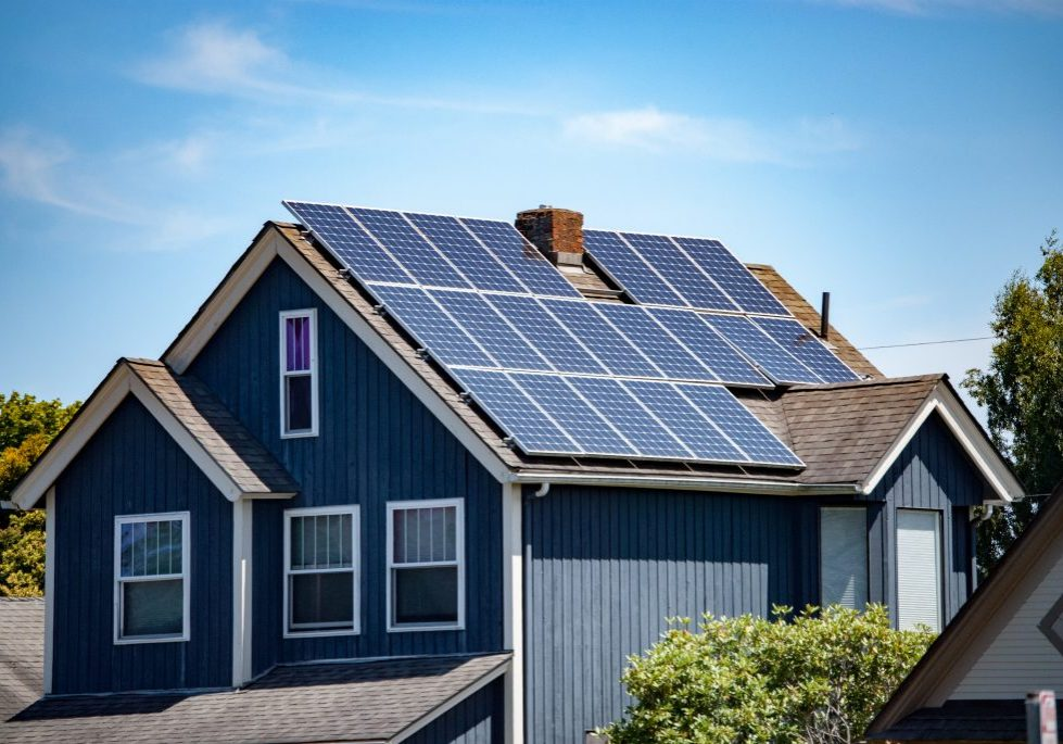 Solar,Panels,Installed,And,In,Use,On,Roof,Of,Home